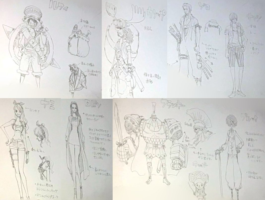 One Piece Stampede Character Designs