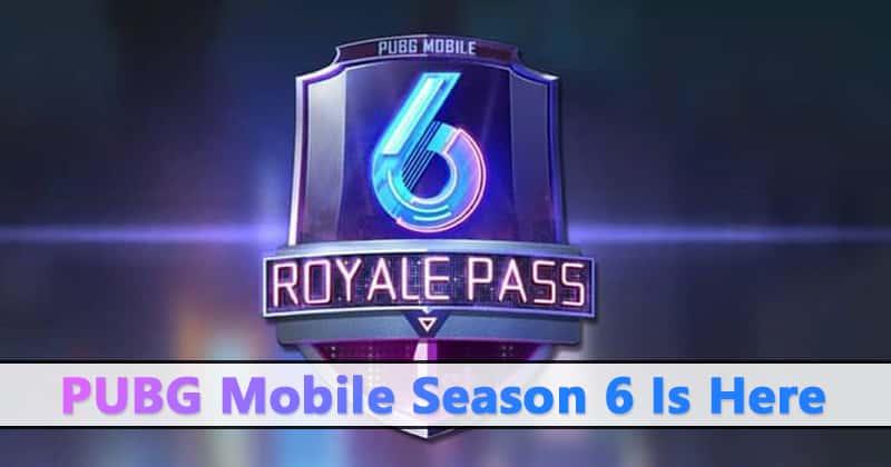 PUBG Season 6 update