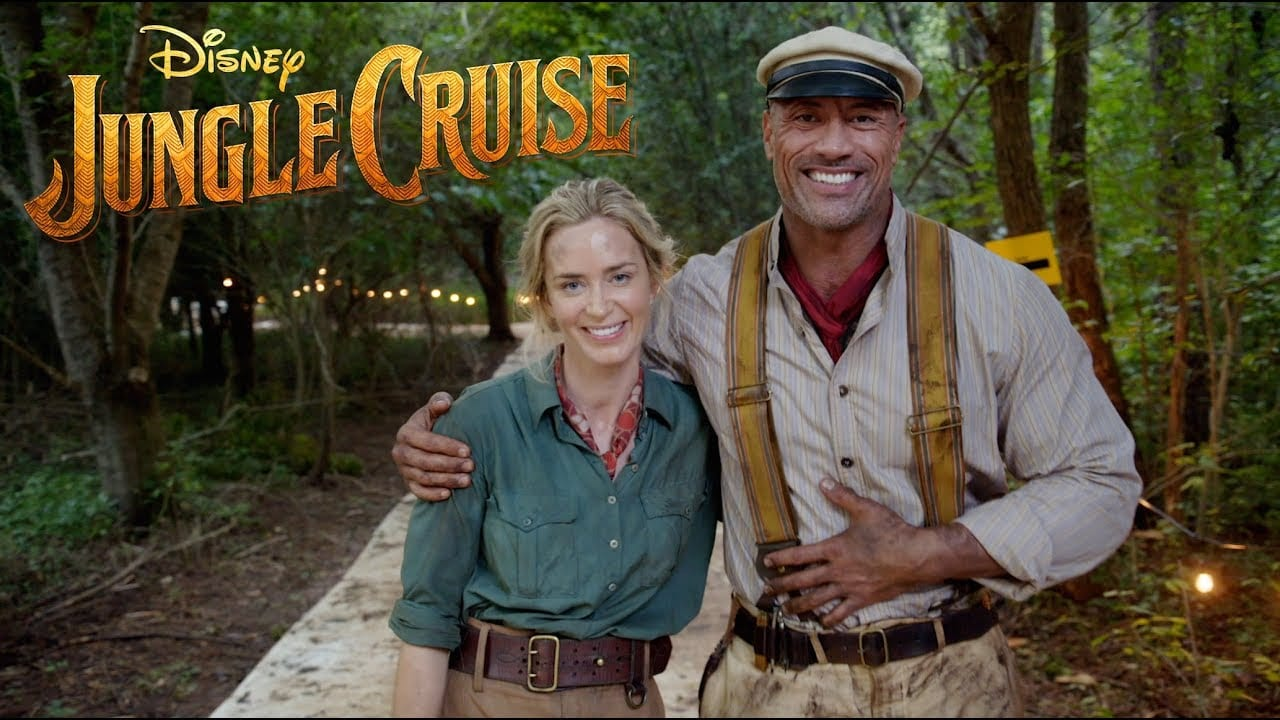 Jungle Cruise Cast Emily and Dwayne