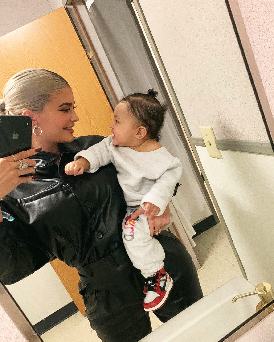 Kylie and Stormi In Her Post