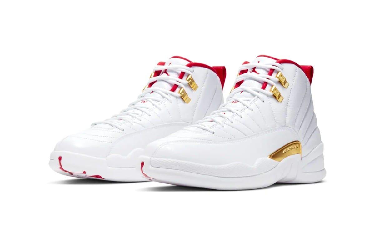 Air Jordan 12 White University Red