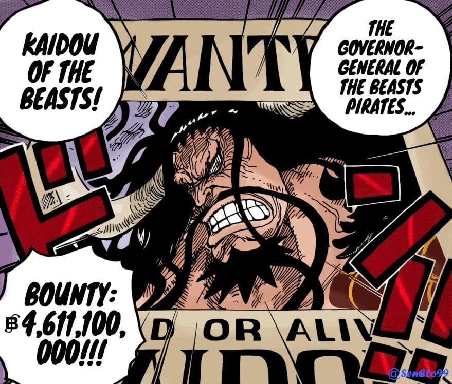 One Piece Yonko Bounties