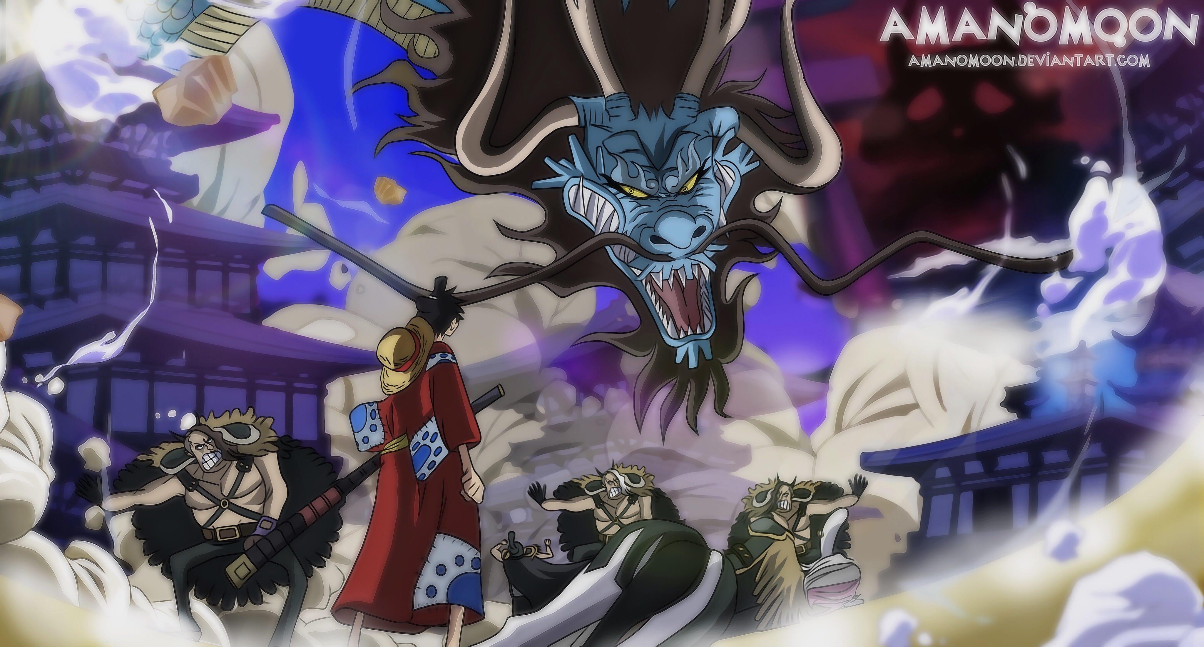 One Piece Luffy vs Kaido Wano Country Episode