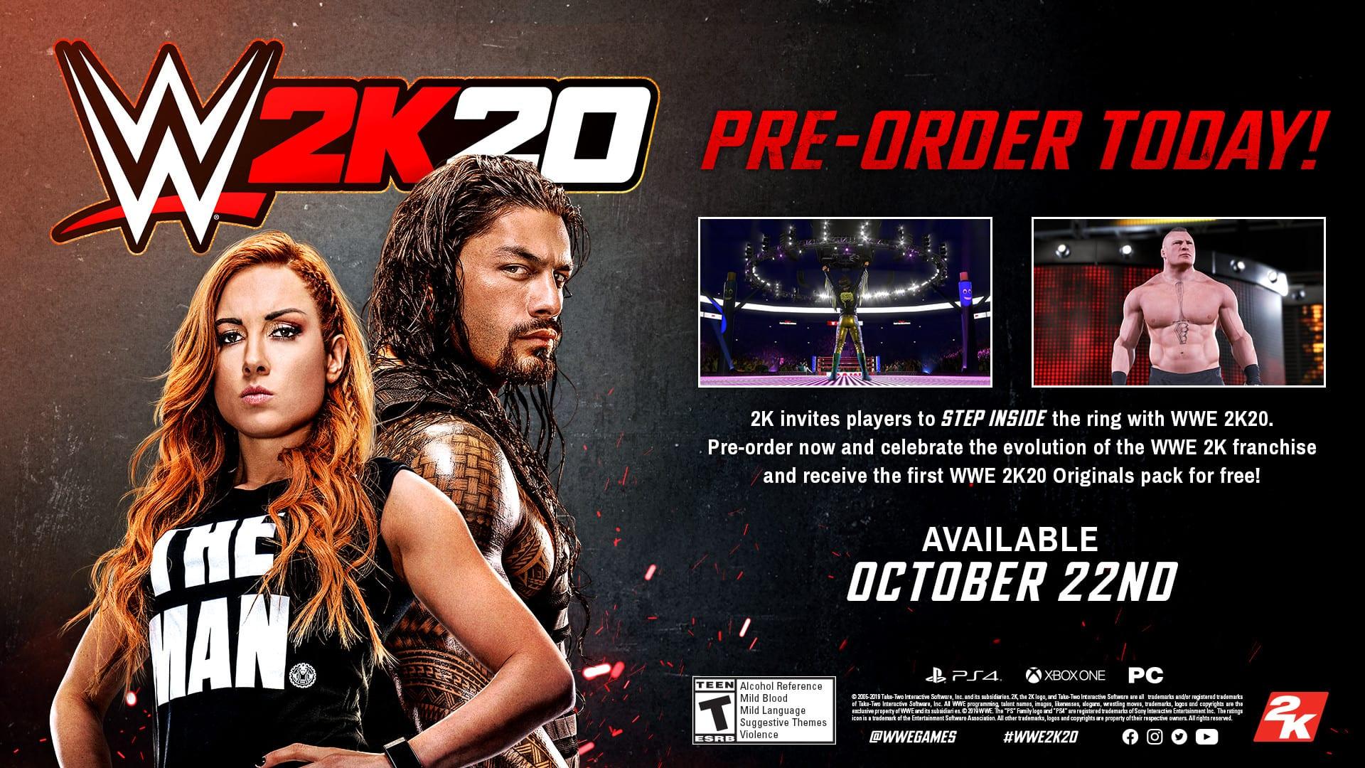 WWE 2k20 Pre-order Bonus