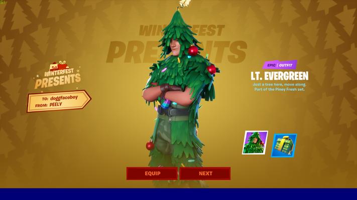 Lt. Evergreen Christmas Skin In Fortnite