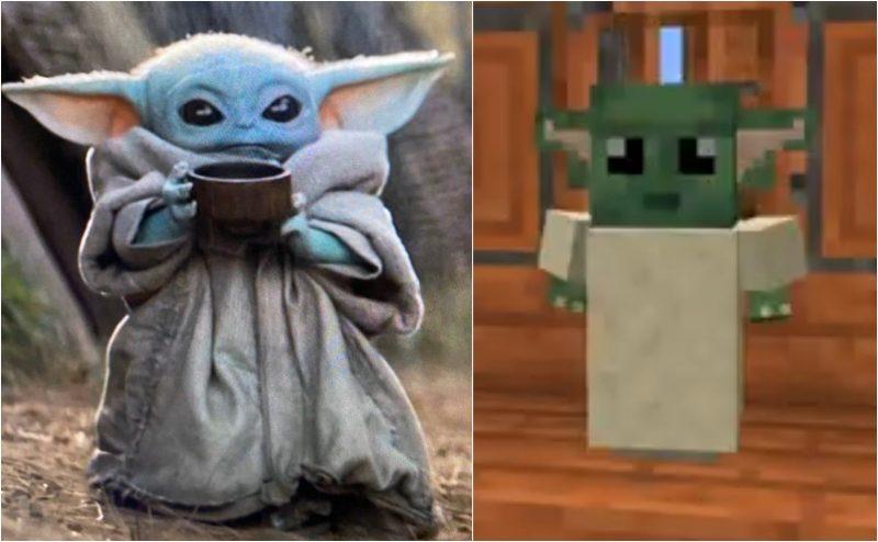 Baby Yoda in Minecraft