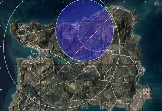 PUBG inner blue zone