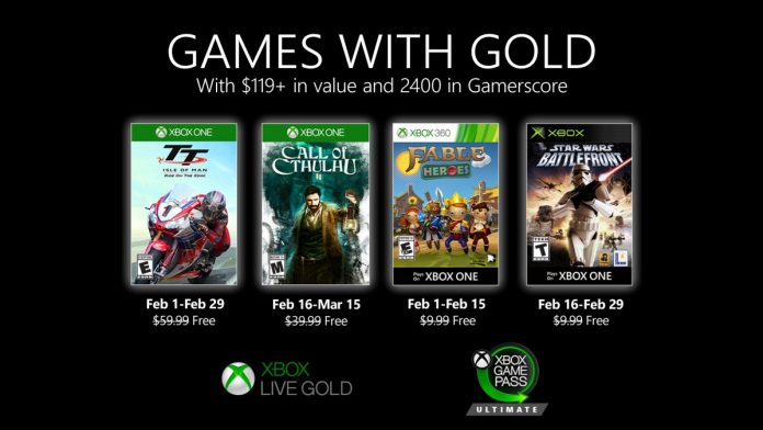 Xbox Live Gold February 2020