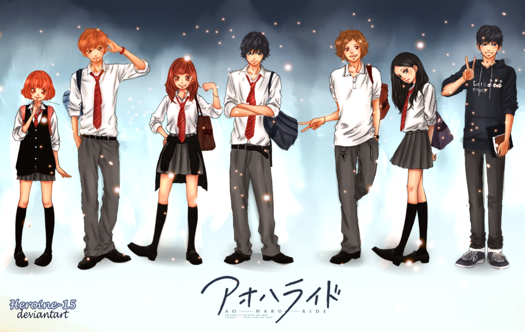 Ao Haru Ride (Blue Spring Ride) Cast and Characters