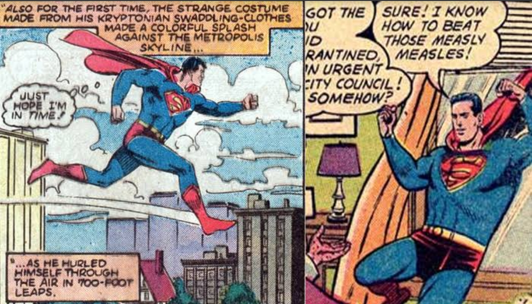 Leaping Superman